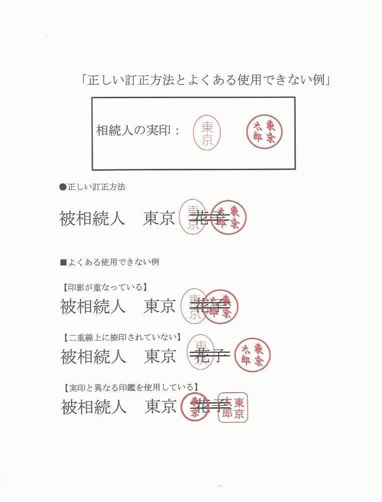 遺産分割協議書の訂正方法|中野相続手続センター(東京)